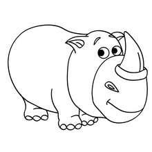Um Rinoceronte para colorir