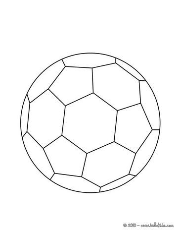 Desenhos Para Colorir De Desenho De Uma Bola De Futebol Para