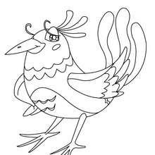Imagem de um pássaro para colorir