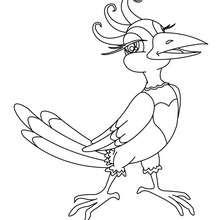 Desenho de um pássaro para colorir online