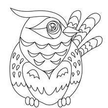 Desenho de um pássaro para imprimir