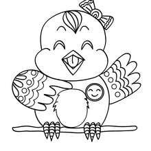 Desenho de um Canário para colorir online