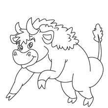 Desenho de um Bisão para colorir online