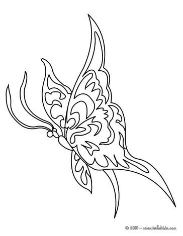 Desenhos Para Colorir De Desenho De Uma Borboleta Kawaii Para