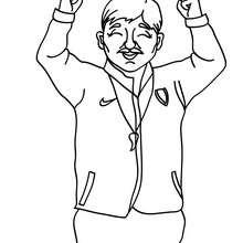 Desenho de um treinador de futebol para colorir