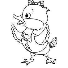 Desenho de um pato para colorir online