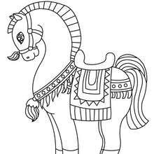 Desenho de um incrível Cavalo para colorir