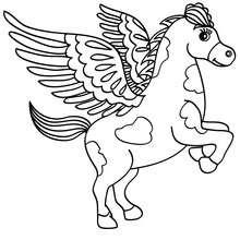 Desenho do Pegasus para colorir