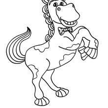 Desenho de um Cavalo sorrindo para colorir