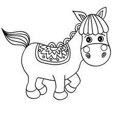 Desenho de um Cavalinho fofo para colorir