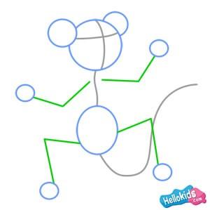 Como desenhar um macaco engraçado