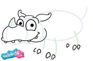 Como desenhar um rinoceronte