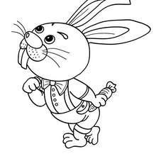 Desenho de um coelho para colorir