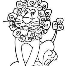 Desenho de um leão para colorir online