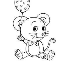 Desenho de um rato para colorir online