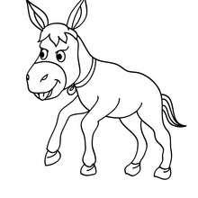Desenho de um burro para colorir