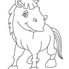 Desenho de um burro Kawaii para colorir