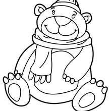 Desenho de um urso fofo para colorir online