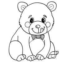 Desenho de um urso Kawaii para colorir