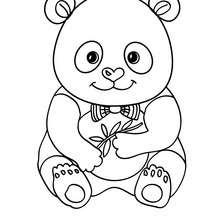 Desenho de um Panda de gravata para colorir