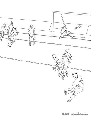 Desenhos Para Colorir De Desenho De Um Jogador De Futebol