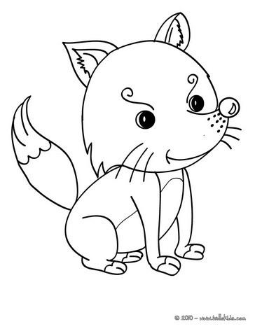 Desenhos para colorir de desenho de uma raposa kawaii para - Pagina da colorare fennec fox ...