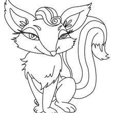 Desenho de uma raposa fofa para colorir