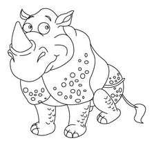 Desenho de um Rinoceronte fofo para colorir