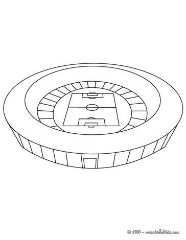 Desenho de um Estádio de futebol para colorir