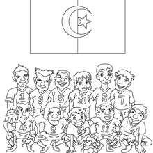 Desenho do time de futebol da Algéria para colorir