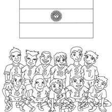Desenho do time de futebol da Argentina para colorir