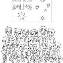 Desenho do time de futebol da Austrália para colorir