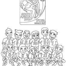Copa do mundo de futebol na África so Sul para colorir