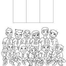 Desenho do time de futebol da França para colorir