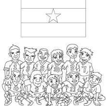 Desenho do time de futebol do Gana para colorir