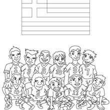 Desenho do time de futebol da Grécia para colorir