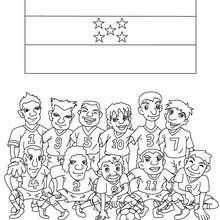 Desenho do time de futebol de Honduras para colorir