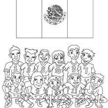 Desenho do time de futebol do México para colorir