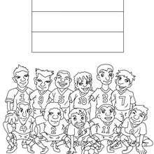 Desenho do time de futebol dos Países Baixos para colorir
