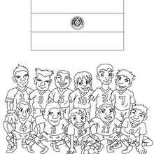 Desenho do time de futebol do Paraguai para colorir