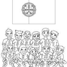 Desenho do time de futebol de Portugal para colorir