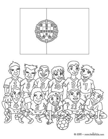 Desenhos para colorir de desenho do time de futebol de - Dessin portugal ...