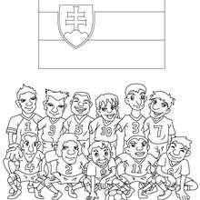 Desenho do time de futebol da Eslováquia para colorir