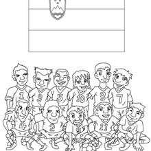 Desenho do time de futebol da Eslovênia para colorir
