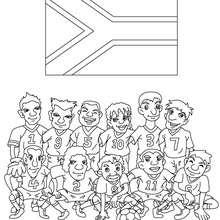 Desenho do time de futebol da África do Sul para colorir