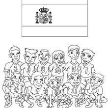 Desenho do time de futebol da Espanha para colorir