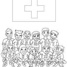 Desenho do time de futebol da Suiça para colorir