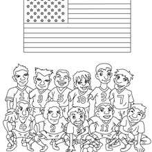 Desenho do time de futebol dos Estados Unidos para colorir