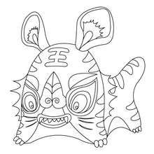 Desenho de um tigre para colorir online