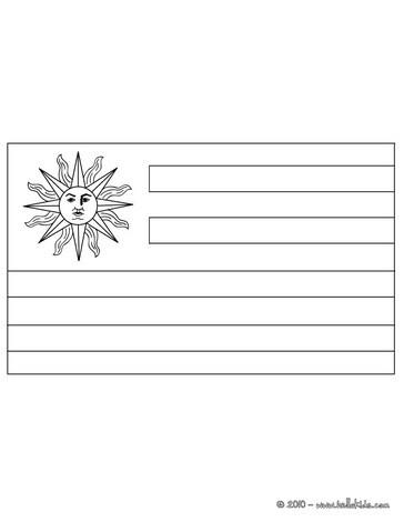 Desenhos Para Colorir De Bandeira Do Uruguai Para Colorir